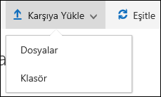 Office 365 dosyaları karşıya yükle veya belge kitaplığındaki klasörü