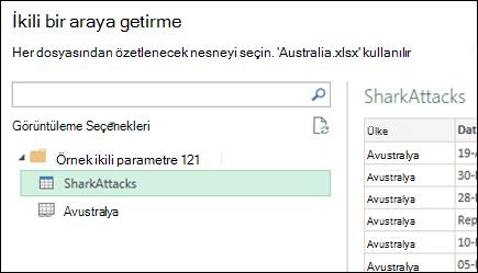 İkili iletişim birincil konsolidasyon hedef seçmek için kullanılabilir Excel çalışma sayfaları görüntüleyen bir araya getirme