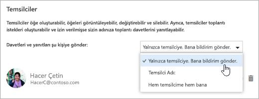 'Bu takvimi paylaş' iletişim kutusunu gösteren ekran görüntüsü.