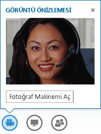Kameramı Aç seçili olarak video önizlemesi ekran görüntüsü