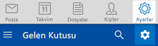 Outlook IOS ve Android ayarları