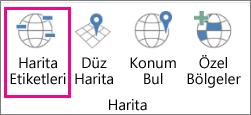 3B Haritalar Harita Etiketleri seçeneği