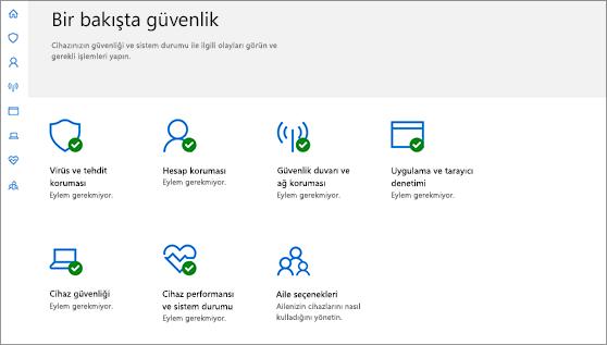 Windows Defender Güvenlik Merkezi