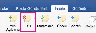 Word Web App'teki Üstbilgi ve Altbilgi düğmesinin resmi