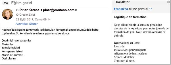Bu ileti, Outlook Çeviri Eklentisi kullanılarak İngilizceden Fransızcaya çevrilmiştir