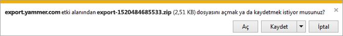 Yönetici, kullanıcı ve ağ dosyalarını gösteren zip dosyası