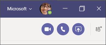 Sohbet sırasında çağrı düğmeleri