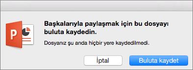 Mac için PPT Buluta Kaydet