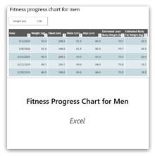 Erkekler için Fitness İlerleme Grafiği şablonunu edinmek için bunu seçin.