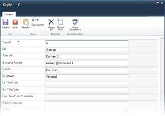sharepoint için infopath liste formları