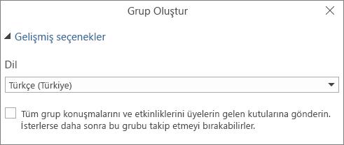 Kullanıcıların gelen kutusuna grup e-postası göndermeyi seçme