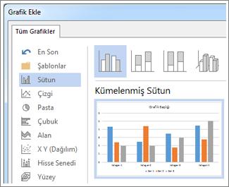 Grafik seçeneklerini ve önizlemeyi gösteren Grafik Ekle iletişim kutusu