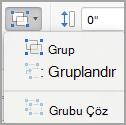 Nesneleri gruplandırma