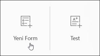 Yeni anket formu oluşturma