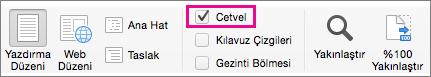 Görünüm menüsünde Cetvel'i seçin