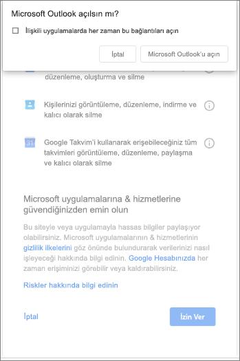 Outlook 'u açma