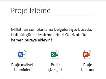 Windows 10 için OneNote'ta sayfaya eklenmiş dosyalar