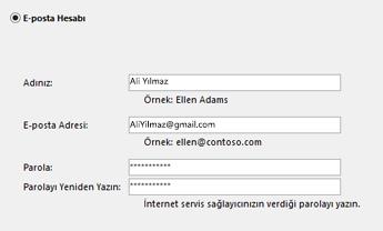 E-posta adresinizi ve parolanızı girin