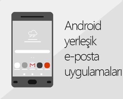 Yerleşik Android e-posta uygulamalarından birini ayarlamak için tıklayın