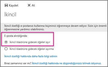 Karışık E-posta özelliğini 'açma'