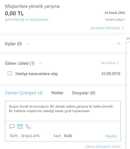 Outlook Customer Manager'a yeni günlük ekleme