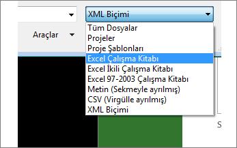 Veriler için hangi Excel çalışma kitabının açılacağını seçin