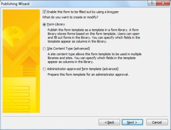 InfoPath 2010 - Formu Yayımlama