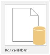 Boş veritabanı simgesi