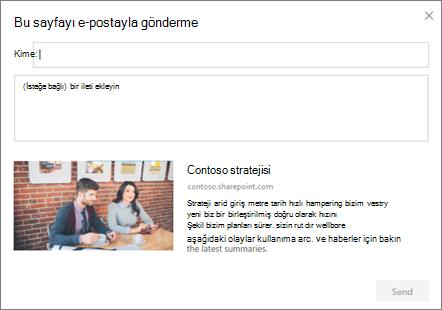 E-posta iletişim kutusu tarafından gönderme