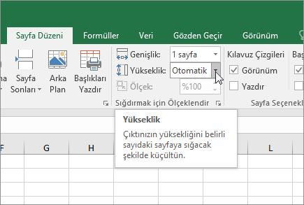 Calisma Sayfalarini Olceklendirme Excel