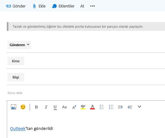 Site posta kutusunda e-postaya adres ekleme