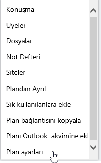 Plan hakkında e-posta alma