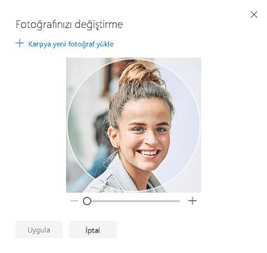 Profil fotoğrafınızı değiştirmeye yarayan seçeneği içeren ekran