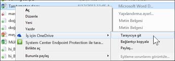 Bir web tarayıcısında eşitlenen bir klasördeki dosyayı görüntüleme