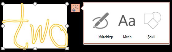 Hangi tür nesne seçili nesneye dönüştürmek için deneyebilirsiniz Dönüştür alanlarınızı mürekkep gösterir.