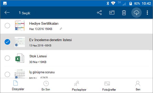 OneDrive dosyalarını çevrimdışı olarak işaretleme
