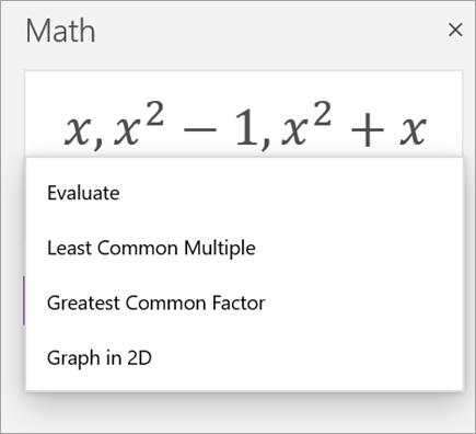Matematik Yardımcısı 'nda dizilerin listesi