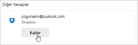 Kaldır düğmesinin Ekran görüntüsü