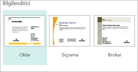 Publisher pazarlama kartpostalı şablonları.