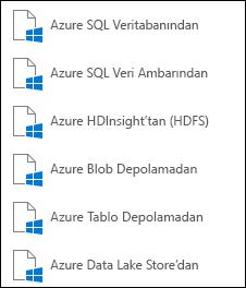 Microsoft Azure'dan veri alma