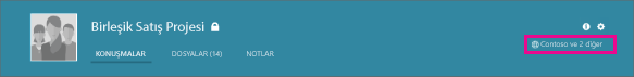Yammer grup üst bilgisinin, bunun bir dış grup olduğunu bildiren küre simgesiyle ekran görüntüsü.