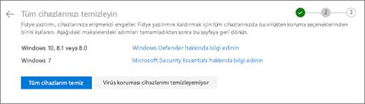 Temiz OneDrive Web sitesinde tüm cihazları ekran görüntüsü
