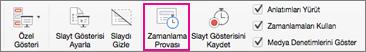Prove düğmesiyle slaytlar arasında farklı zamanlamaları deneyin