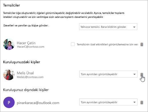 Bu takvimi paylaş iletişim kutusunu gösteren ekran görüntüsü.