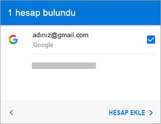 Uygulamaya Gmail hesabınızı eklemek için Hesap Ekle'ye dokunun
