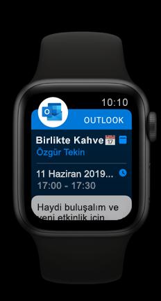 Outlook yaklaşan takvim randevusu