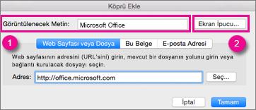 Mac için Office Köprü iletişim kutusu