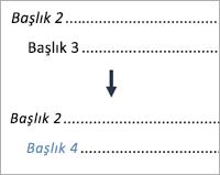 3. düzey girdiyi 4. düzey girdi yapmayı gösterir
