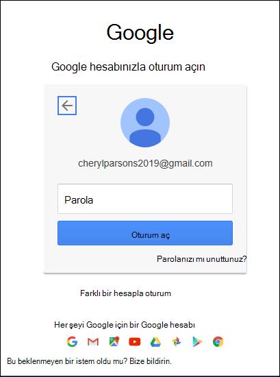 Gmail parolanızı girin.