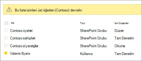 Kullanıcılar ve gruplar için Anket izinleri